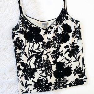 Ann Taylor • cropped floral tank top